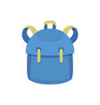 kid backpack icon flat style vector image vector image