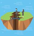 leadership bridge business success concept as a vector image vector image