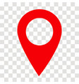location pin icon on transparent location pin vector image vector image