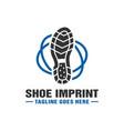 logo design boot imprint vector image