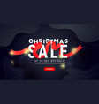 mary christmas sale banner with shiny golden vector image vector image