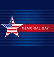 memorial day usa banner vector image vector image