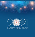 merry christmas and happy new 2021 year holiday vector image vector image