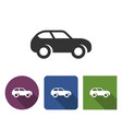 monochromatic car icon in different variants with vector image vector image