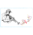 Musician Trumpeter vector image vector image