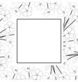 nemophila baby blue eyes flower banner card vector image vector image
