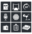 Night Club Icons set vector image vector image