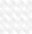Paper white vertical merging spirals vector image vector image