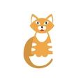Red Tiger Cat Breed Primitive Cartoon vector image