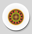roulette is a casino game sticker icon flat style vector image vector image