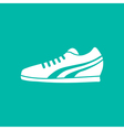 Running Shoe Icon on Background vector image vector image