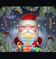 santa claus cute new year hold light gift box vector image vector image