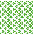 seamless patten with clover vector image vector image