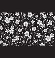 simple silhouette classic floral seamless pattern vector image vector image
