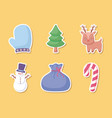 snowman with set icons of christmas vector image