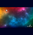 space background realistic infinite universe with vector image vector image