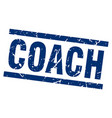 square grunge blue coach stamp vector image vector image