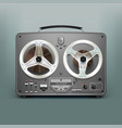 stock realistic tape recorder vector image