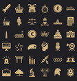 team icons set simple style vector image vector image