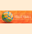Volleyball concept banner cartoon style