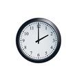 wall clock set at 2 o clock vector image