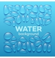 Water drops on blue background vector image vector image