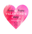 Watercolor heart card