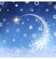 Blue Winter Background Falling Star vector image