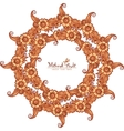 Decorative round frame in Indian mehndi style vector image