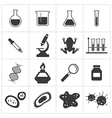 chemistry and biology icon set vector image