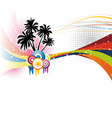 music colorful rainbow vector image