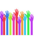 a lot of hands vector image vector image