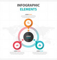 Abstract colorful circle business infographics