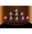 an old chandelier with candles vector image vector image