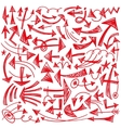 arrows - doodles set vector image vector image
