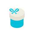blue circle present box isometric object vector image vector image