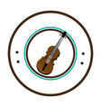 chello instrument seal icon vector image vector image