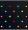 christmas neon garlands new year vector image vector image