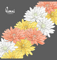 chrysanthemums on a dark background vector image vector image