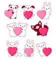 collection of cute baby animals vector image