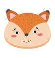 colorful cute fox face wild animal head