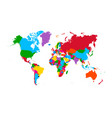 colorful map world high detail political map vector image vector image