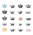 Crown Set vector image vector image