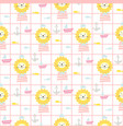 cute sailor lion kids apparel seamless pattern vector image