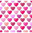 Cute shiny seamless heart pattern isolated on vector image vector image