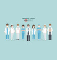doctors nurses and medical staff vector image