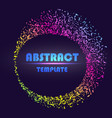 dynamic abstract scattering particles background vector image