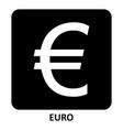 euro symbol vector image vector image