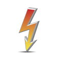 Flash danger symbol vector image