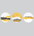 fuji mountain icon with gold foil natural vector image